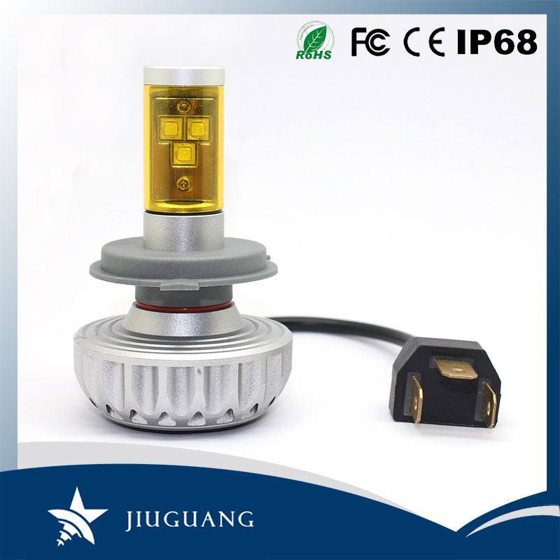 High Power Fanless 3S 360 Auto Car Light Bulbs Kit H3 H4 H7 H11 H15 9005 9006 9007 9012 LED Headlight