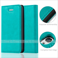 Luxury Commercial Flip Magnetic Wallet Phone Case Cover With Card Slots For Apple Iphone 4s