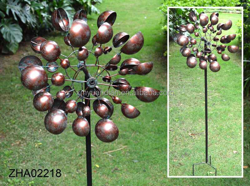 Wholesale metal windmill garden stake ornament, Garden Wind Spinners Stake