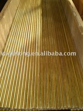 Brass tube for heat exchanger