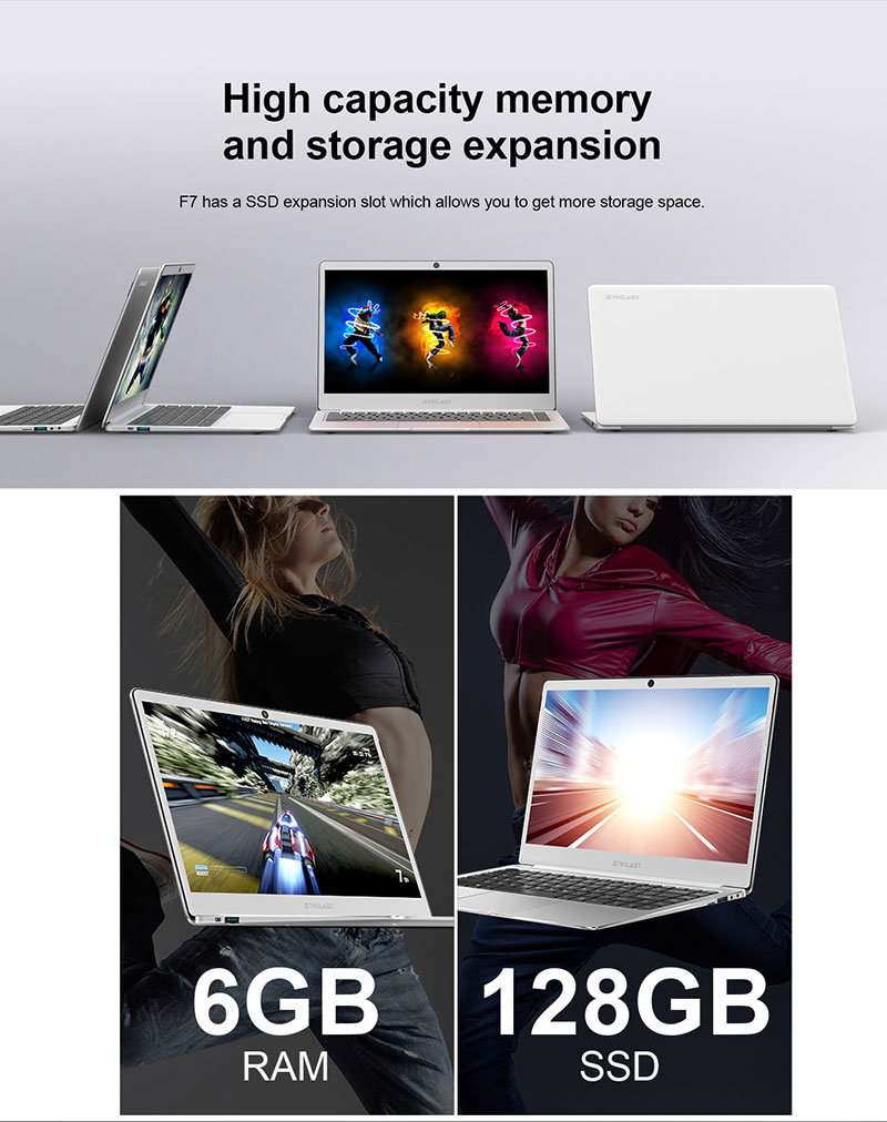 Intel 9th Gen HD Graphic card IPS 1920*1080 full HD 6G+128G 37240mWh battery win10 home Teclast F7 14inch laptop super slim