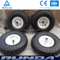 Light Weight pneumatic wheel small rubber wheels