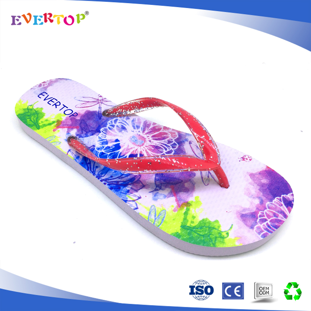2017 new design custom wholesale Sandals Comfortable Simple Style slipper rubber flip flop Summer rubber Casual Ladies footwear