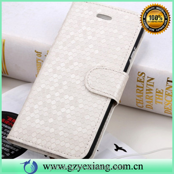 Hot selling diamond pattern wallet flip case for iphone 6 4.7 pu leather phone case cover