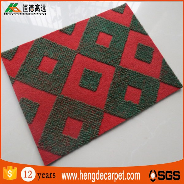 Commercial waterproof double jacquard floor carpet price for hotel