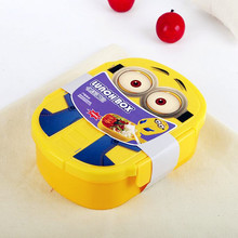Minions Kids Plastic Bento Lunch Box With Lock
