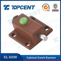 furniture hardware plastic and Iron locking magnetic cabinet door latch