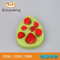 Strawberry shape fondant material and mould cake tools for cake decoration