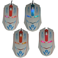 Newestl factory price Iron Man shining USB computer pc Laptop wired optional mouse