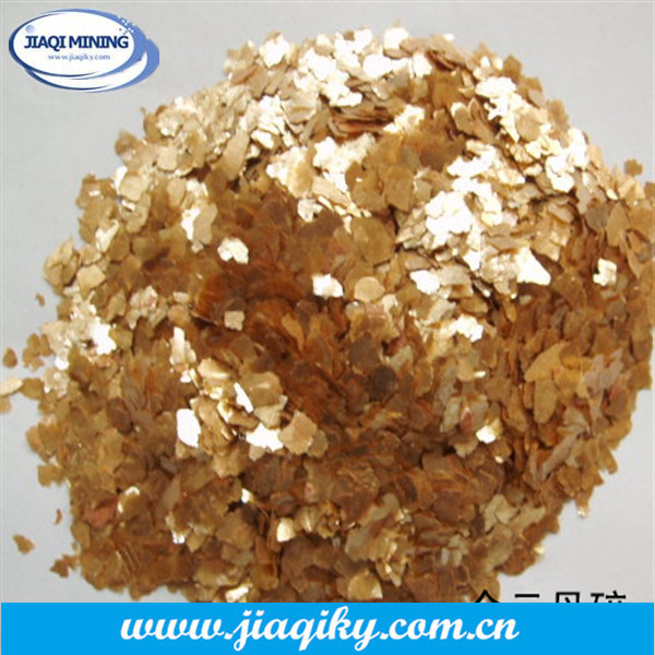 High grade phlogopite powder gold mica powder for cosmetics
