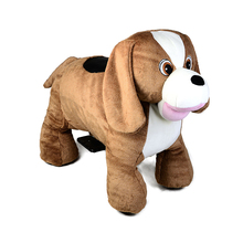 Outdoor animals motorized plush riding on mall