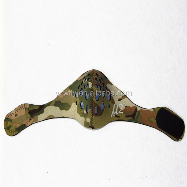 camoflage face shield with filter