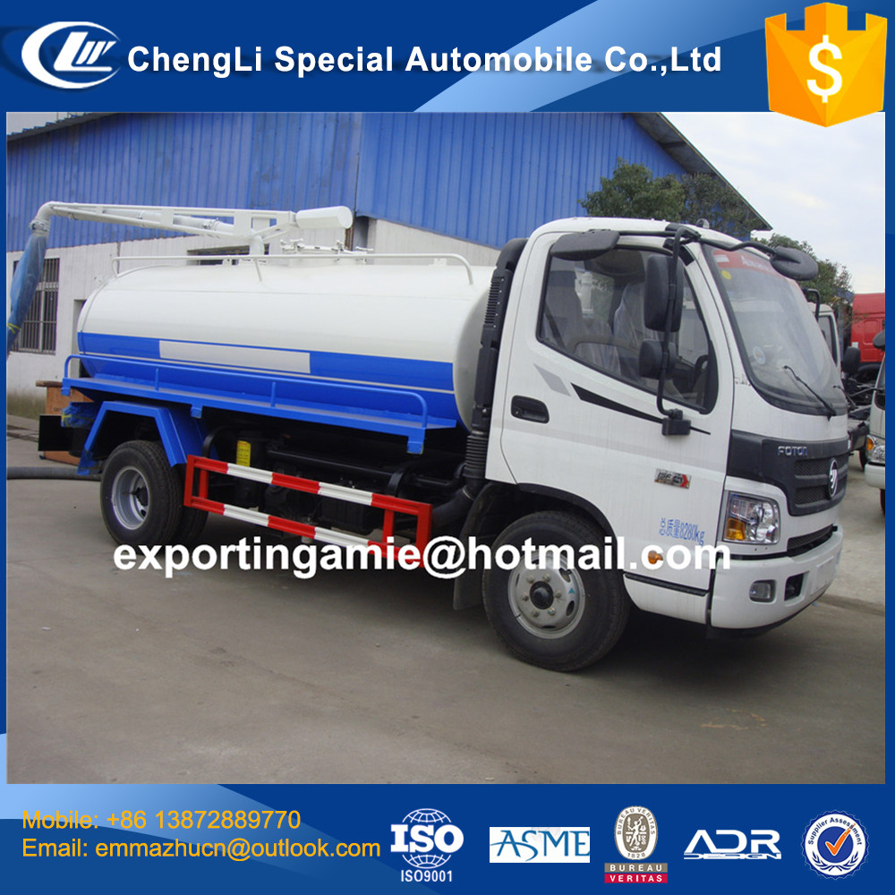 china cheapest brand new 6t foton aumark septic truck for sale