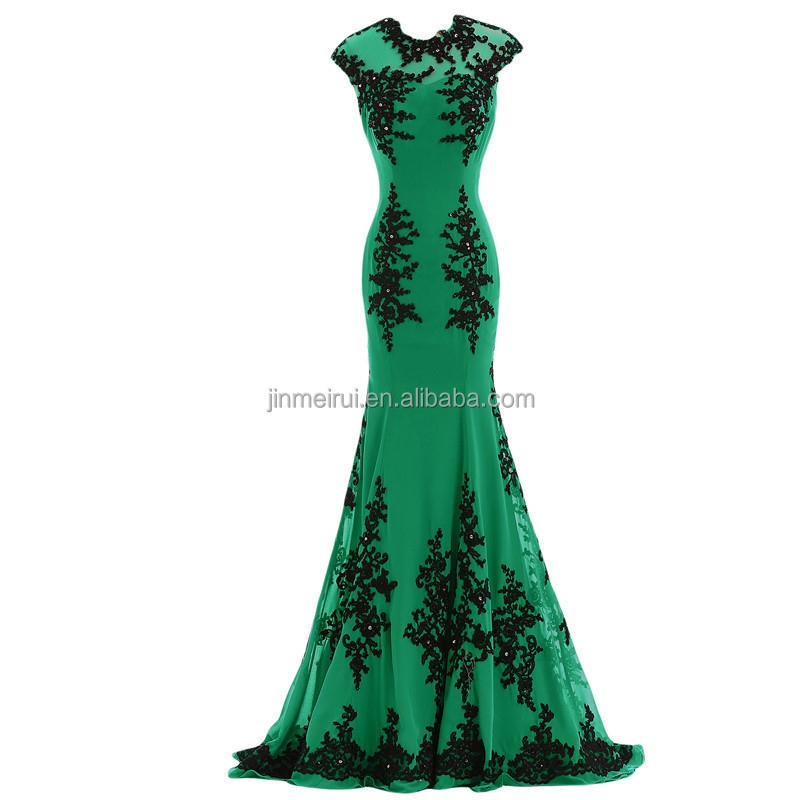 Mermaid Evening Dresses Long 2016 Free Shipping Jewel Appliqued Beaded Sweep Train Formal Dresses for Special Occasions