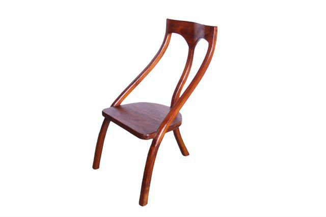 3 legged teak chair