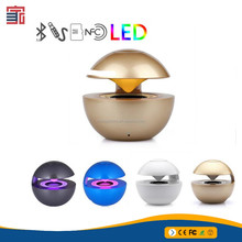 High-End Magnetic Levitating Multifunctional Rose Golden Microphone Portable Wireless Speaker With Breath Led