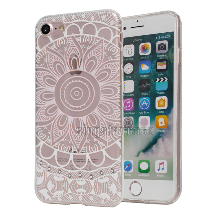No Model Line TPU Back Cover For iPhone 7S Case, Colors Printed Design Mobile Phone Case For iPhone 7S