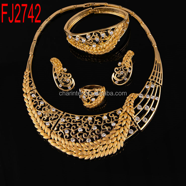 Free Shipping wholesale Fashion african 18k gold plated Jewelry Set