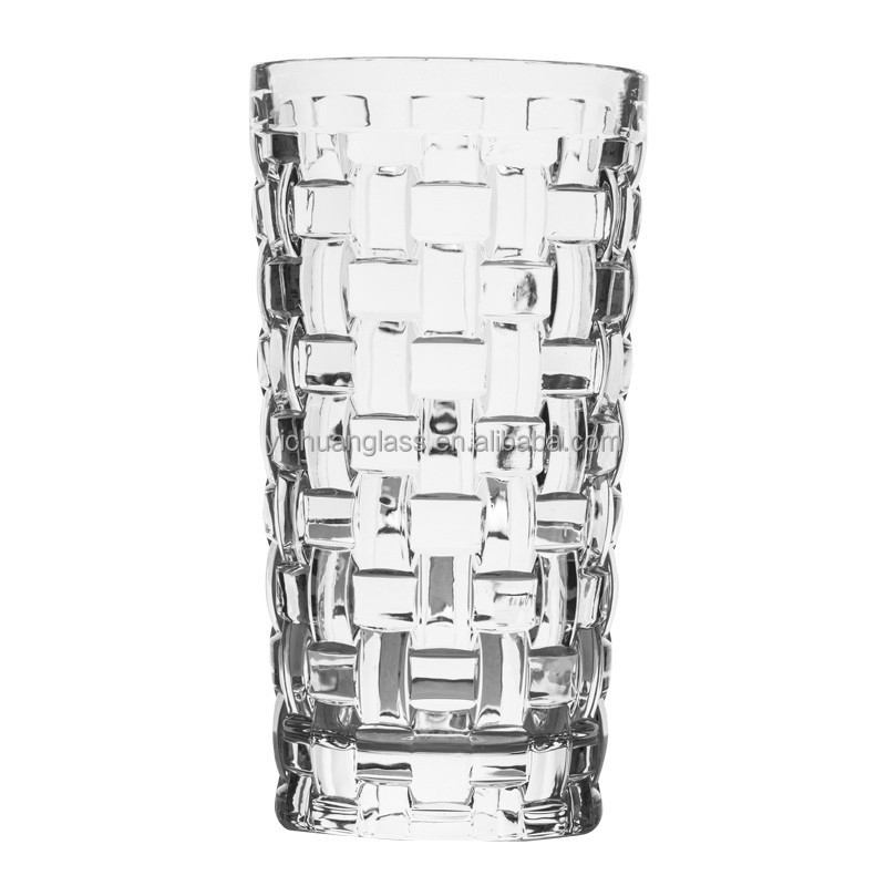 Rattan pattern drinking glassware for hotels