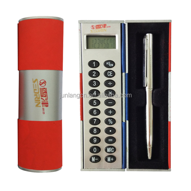 Magic promotional gift calculator 8 Digit electronic Magic Box Calculator with a Pen