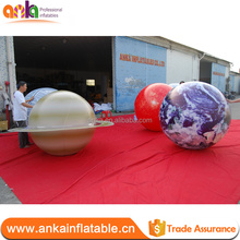 Best selling giant inflatable earth globe balloon, inflating helium planet ball for decorations