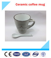 top quality coffee mug ceramic,ceramic mug with spoon,ceramic mug