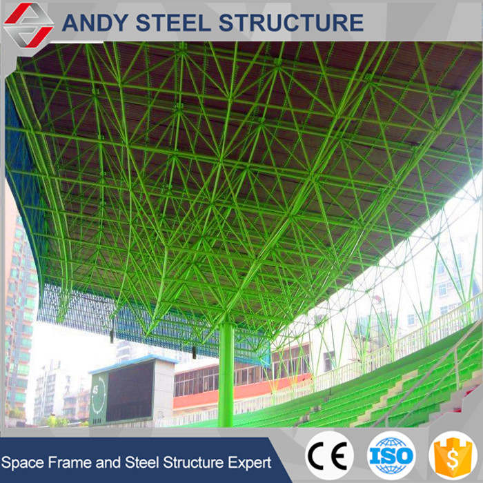 Prefab new style design steel structure football bleacher space Frame