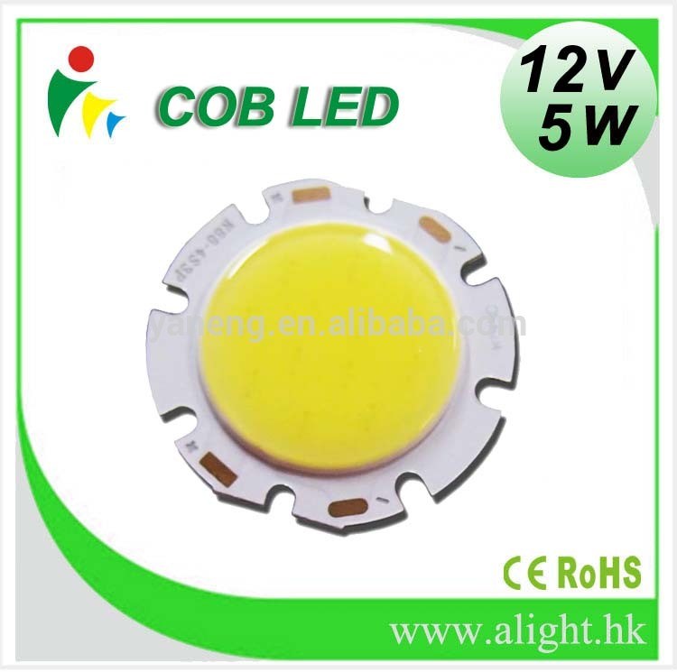 Factory Best Selling COB LED Chip 5 Watt 12V for household applinces