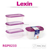 super seal rectangular biscuit plastic container with screw lid