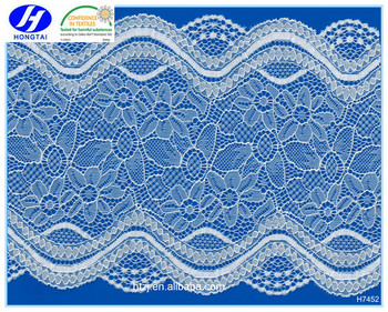 2016 Hongtai wavy line fabric/spandex lace for women garments