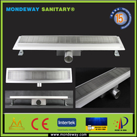 Hot Sales For stainless steel 304 Shower easy clean trap roof drain in corner with SHINING or BRUSHED FACE WITH HIGH QUALITY