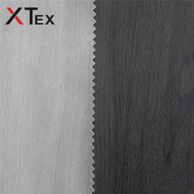 Wooden grain Printing bonded furniture pvc leather synthetic fabric