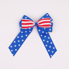 Professional Factory directly wholesale new arrival hot America flag bow tie for dog