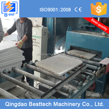 Belt conveyor shot blasting machine for concrete / for marble