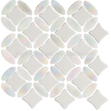 Hot Sale pebble opaque round glass mosaic tile