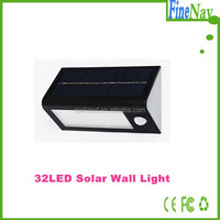 Motion sensor activated detection solar Wall/garden/path solar wall light