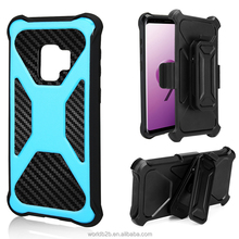 Premium X Shape 2 in 1 TPU + PC Holster Hybrid Belt Clip Rugged Case for Samsung Galaxy S9