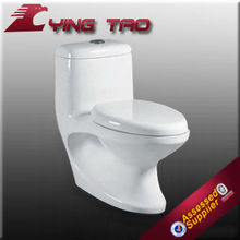 Easy cleaning bathroom china one piece toilet small portable toilet