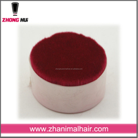 natural animal hair dyed red goat hair for body brush