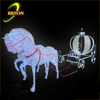 Buy LED Acrylic Lighted Horse Pumpkin Carriage For Event in China ...