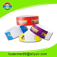 colorful tyvek wristbands/bracelets