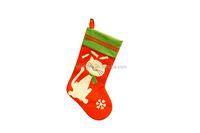 Christmas Santa Pet Cat Stocking , Good Quality Plush Handmade Christmas Stocking