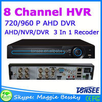 8CH Channel 720/960P AHD DVR dvr h 264 for CCTV Security Surveillance System New CCTV Product