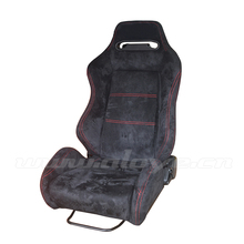 SPD Adjustable Velvet Racing Car Seats Red/Black