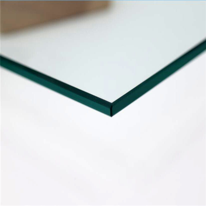 4mm flat clear float glass tempered with polished edges