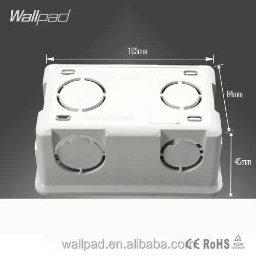 2015 New Arrival Hot Sale Wallpad For 118*72mm Wall Switch & Socket Mounting Plastic Electrical Junction Back Box