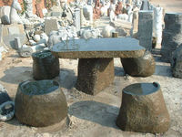 Chinese high quality natural stone table/garden granite table