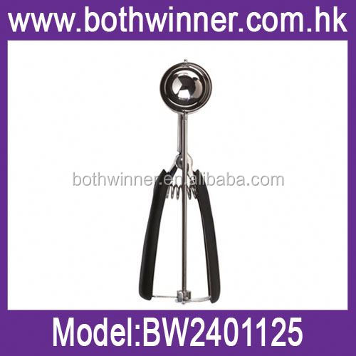 Stainless steel basting spoon ,H0T085 good quality ice cream scoop , biodegradable ice-cream spoon