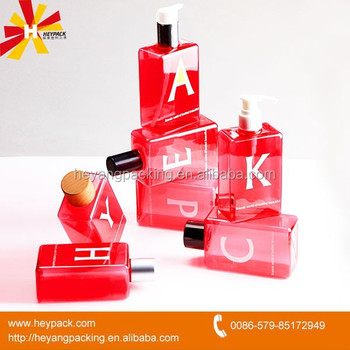 Red square food grade spray bottle
