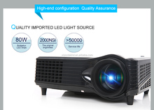 Led projector 3000 lumens 1080p for IOS for Android mobile phone lcd projector